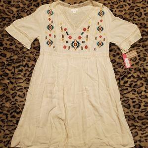 Short sleeve boho dress